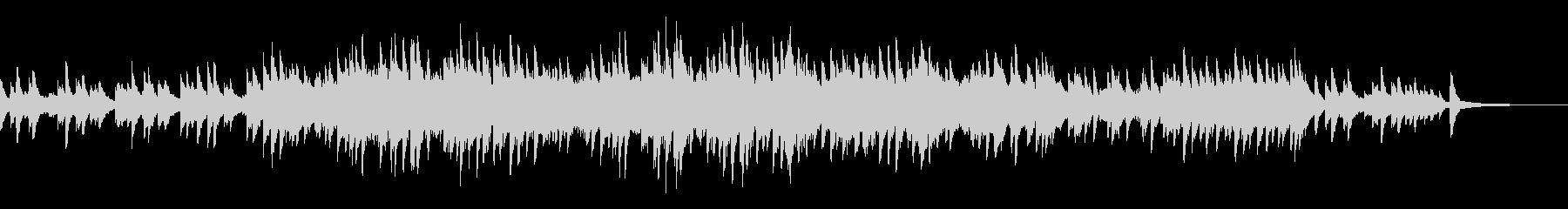 エンディングをイメージしたピアノソロの未再生の波形