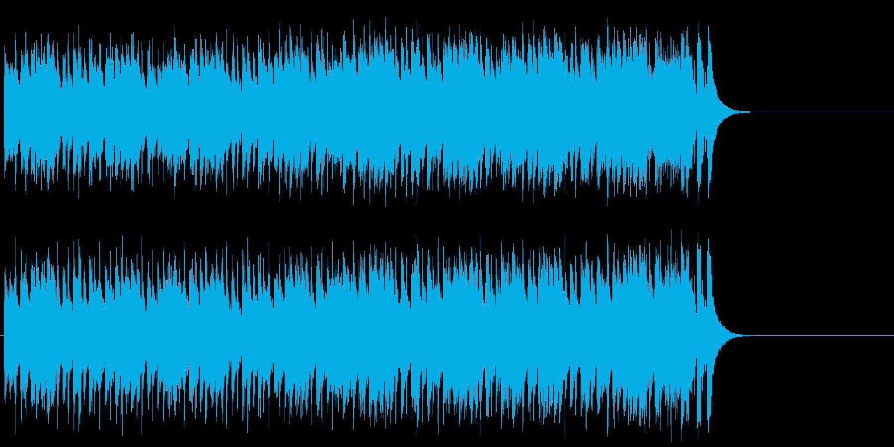 わくわくする軽快なポップ(サビ)の再生済みの波形
