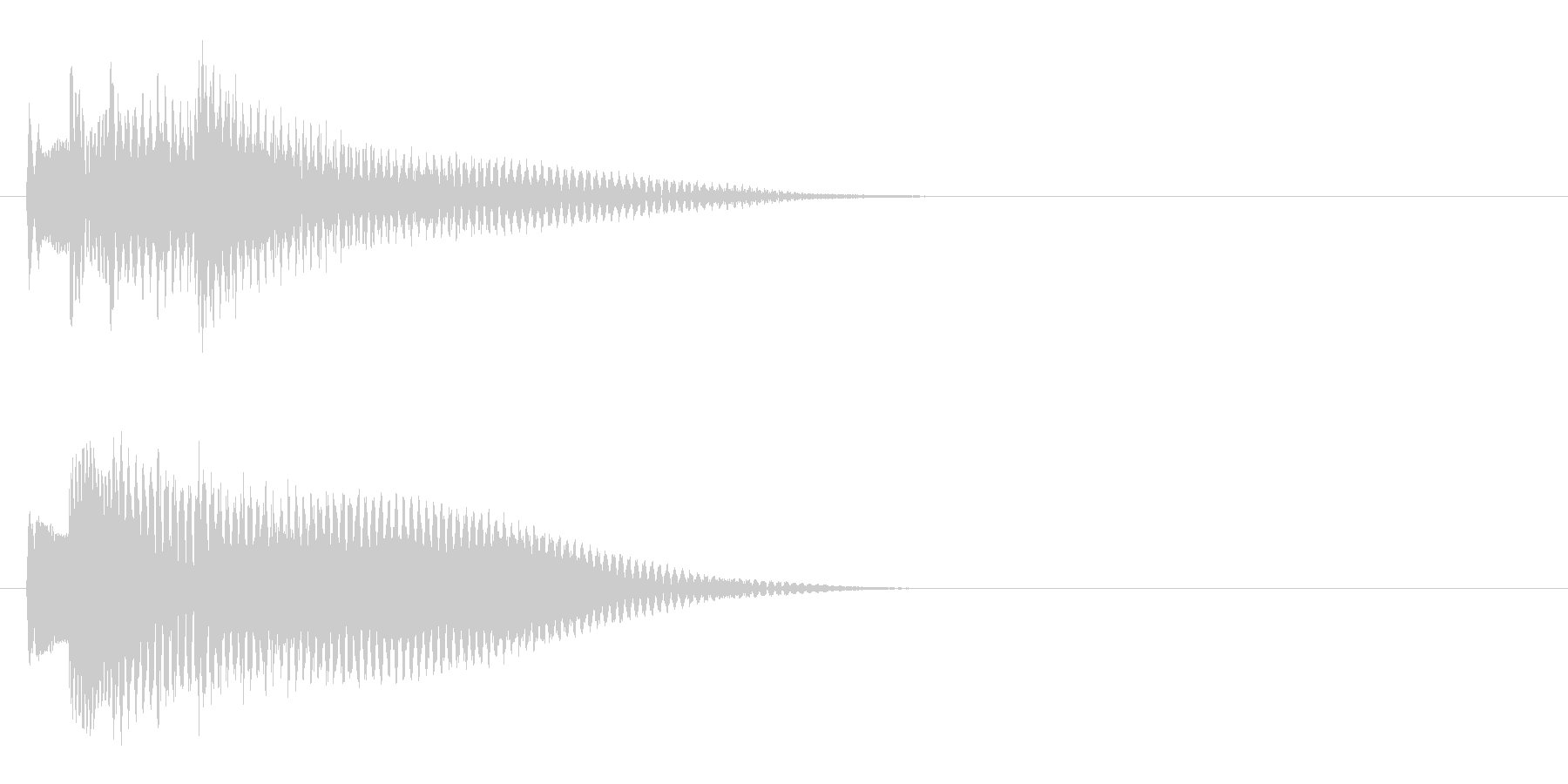 王道RPG3 スタート音 豪華決定音の未再生の波形