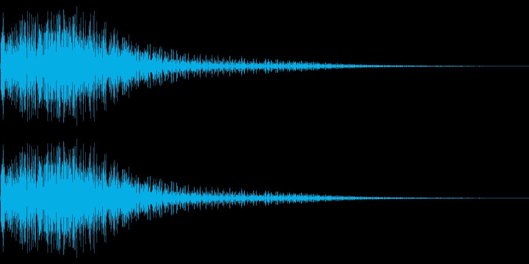 衝撃音(ギャン/ギャッ)の再生済みの波形