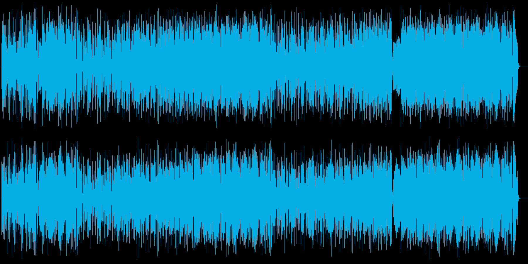オシャレで軽快なラテン音楽の再生済みの波形