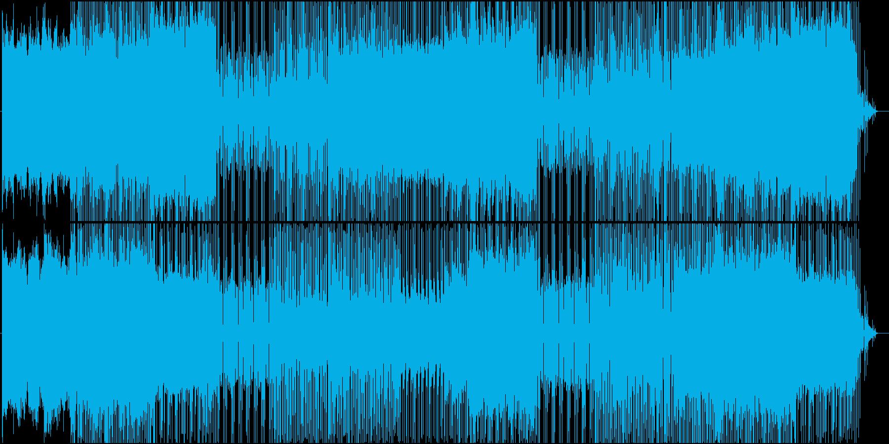 ゲーム音楽風チップチューンの再生済みの波形