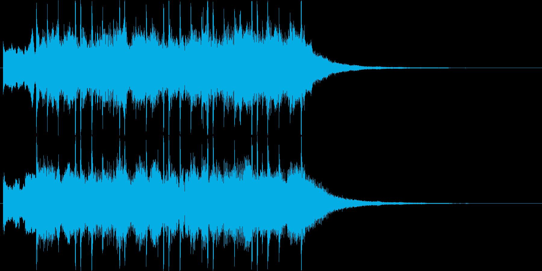 POPで明るいシンセサイザージングルの再生済みの波形