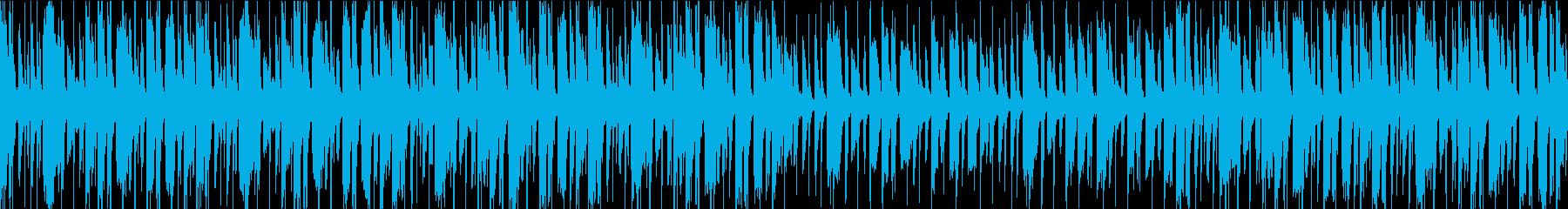 陽気な雰囲気のループ曲の再生済みの波形