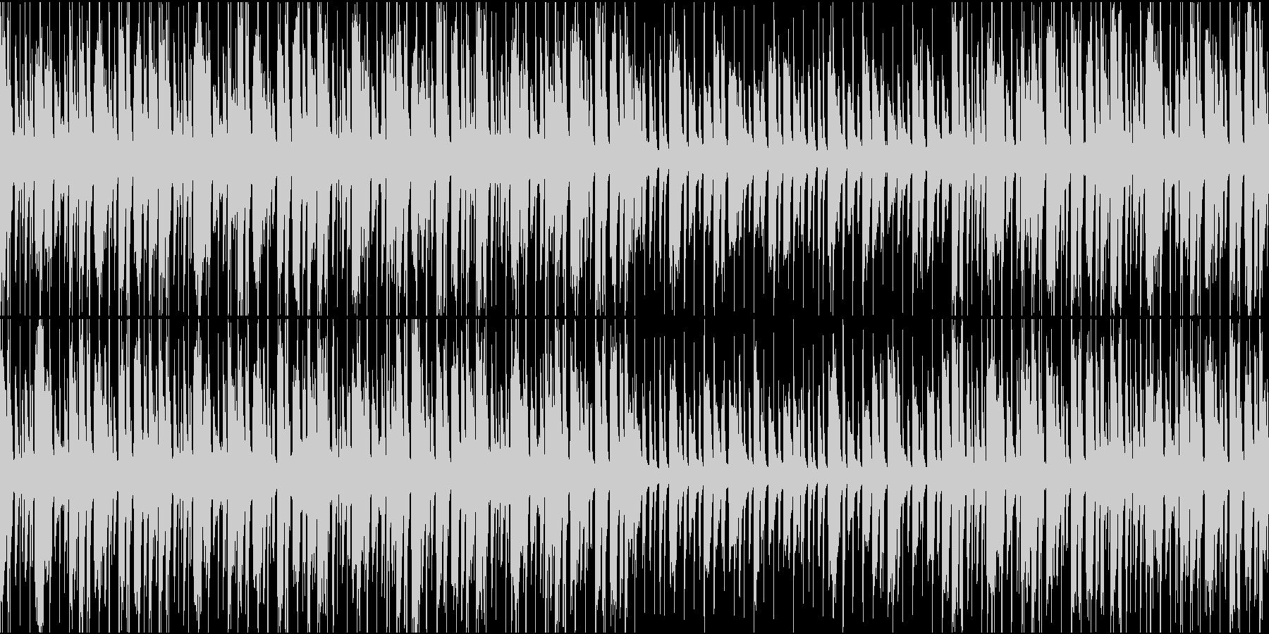 陽気な雰囲気のループ曲の未再生の波形