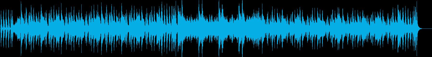 ブラスの骨太ロック調なファンクジングルの再生済みの波形