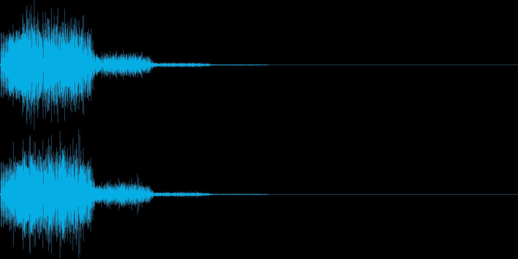 システム音42_シンセYKの再生済みの波形