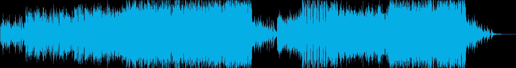 生演奏バイオリンの映像向けテーマ曲風の再生済みの波形