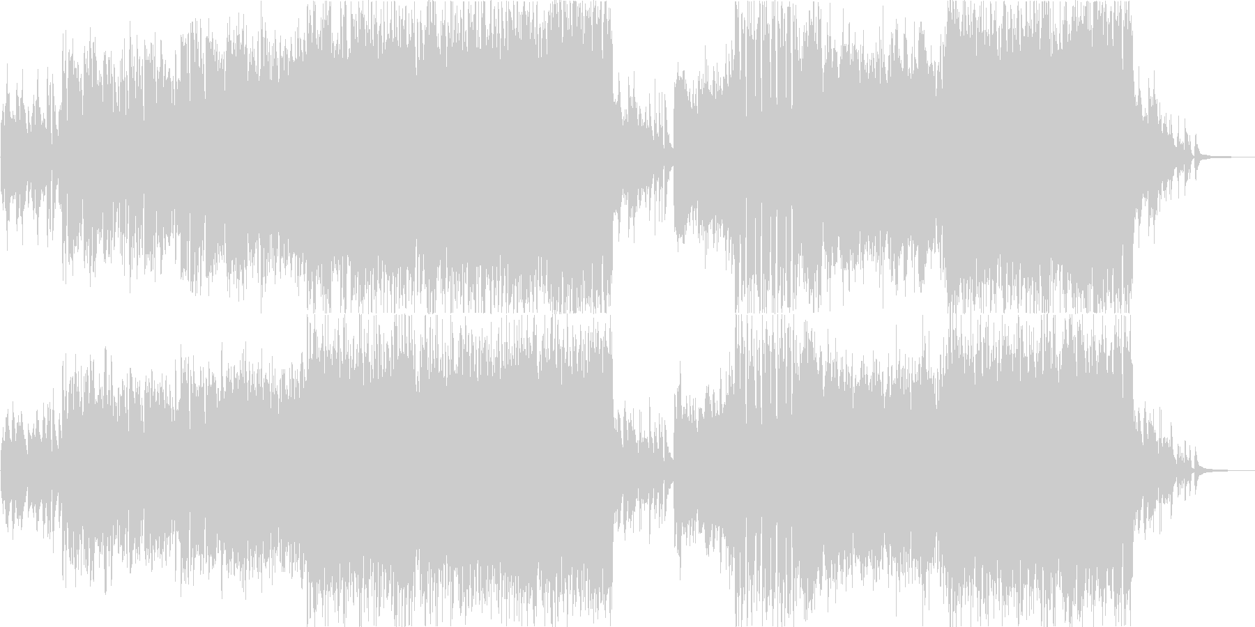生演奏バイオリンの映像向けテーマ曲風の未再生の波形