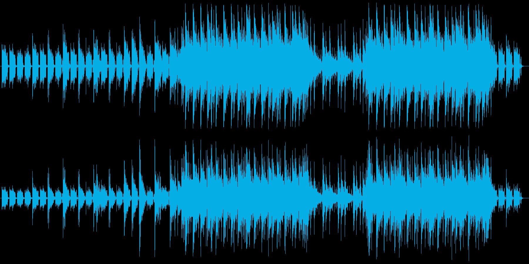 癒しのアコースティックギターサウンドの再生済みの波形