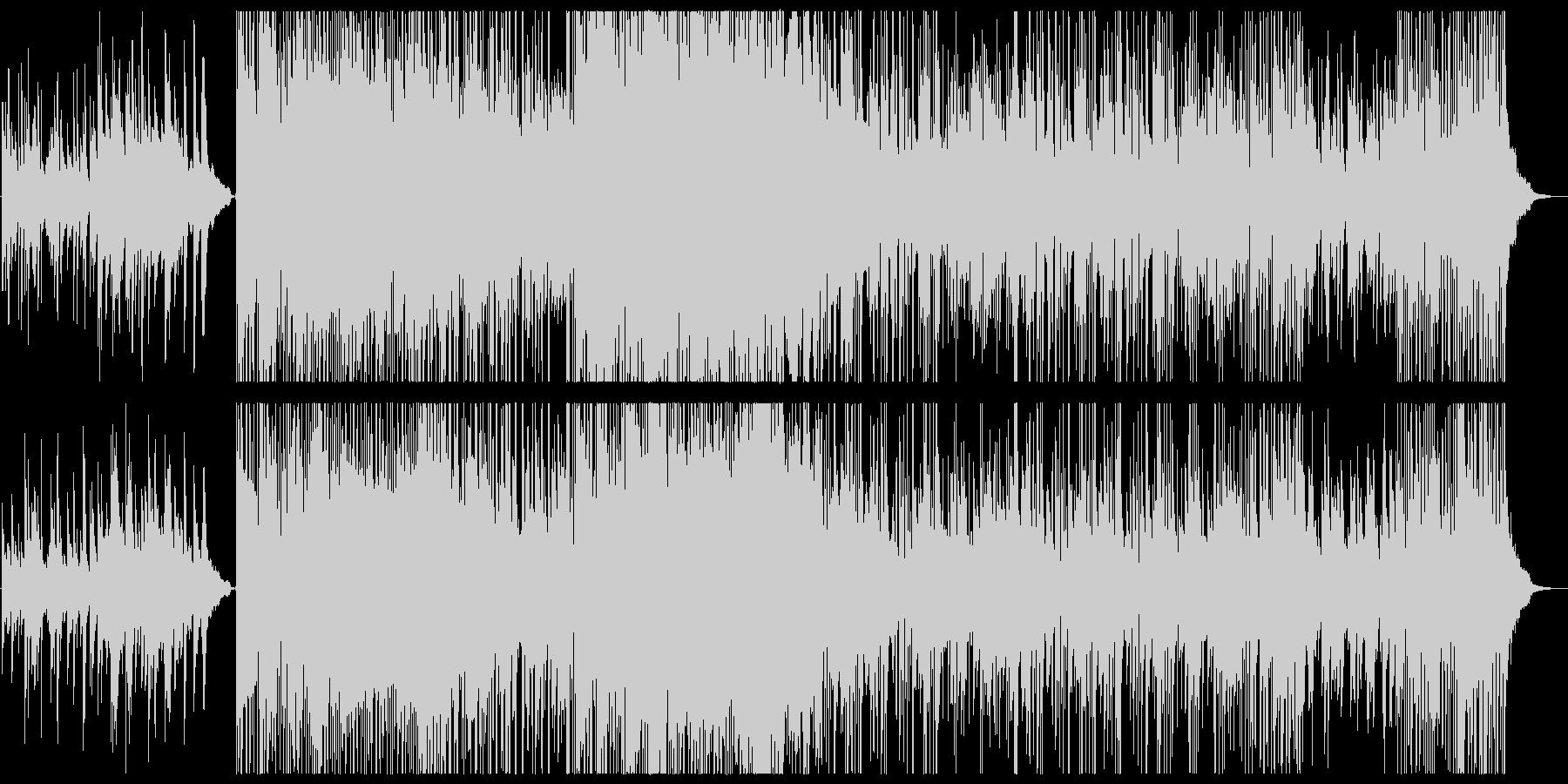 ピアノ,笛,ストリングス+エレクトロニカの未再生の波形