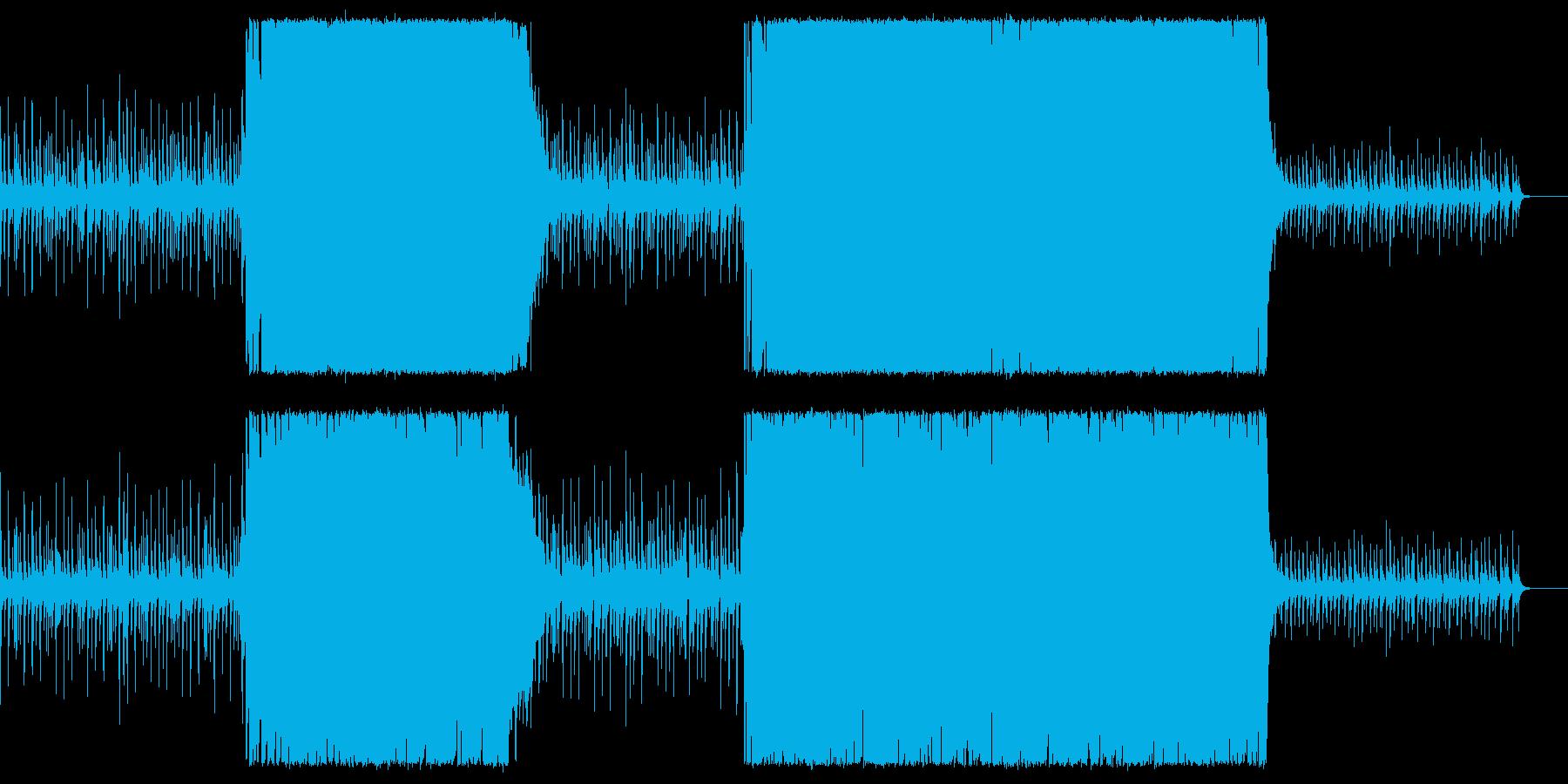 シンプルかっこいいアコースティックロックの再生済みの波形