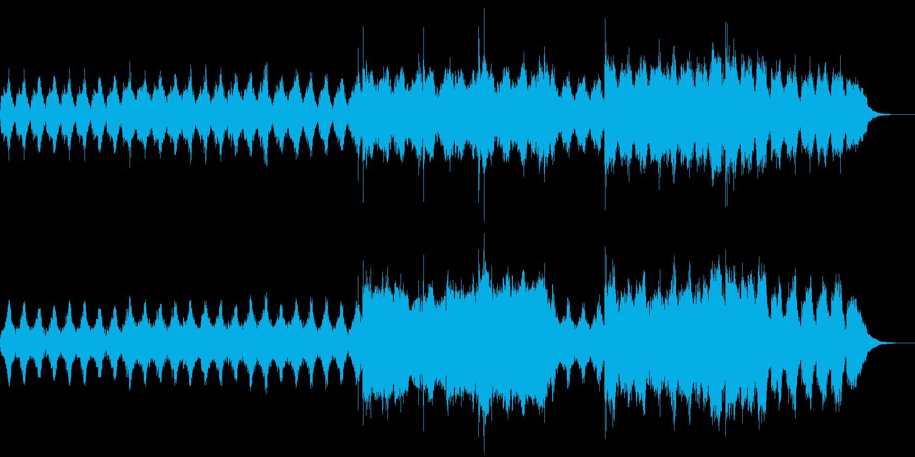 緊迫感と重厚感のある曲の再生済みの波形