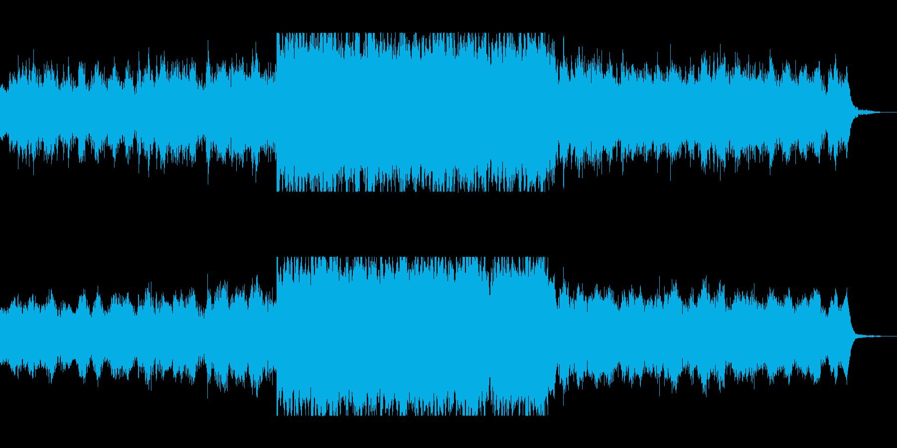 おしゃれファンタジーシンセサウンドの再生済みの波形