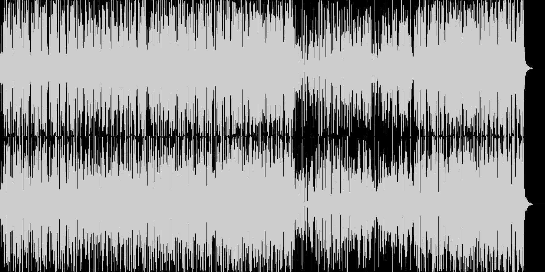 浮遊感のあるドラムンベース風テクノの未再生の波形