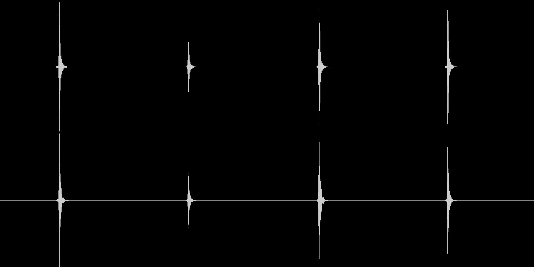 【生音】手・叩く - 5 「ぱち…ぱち…の未再生の波形