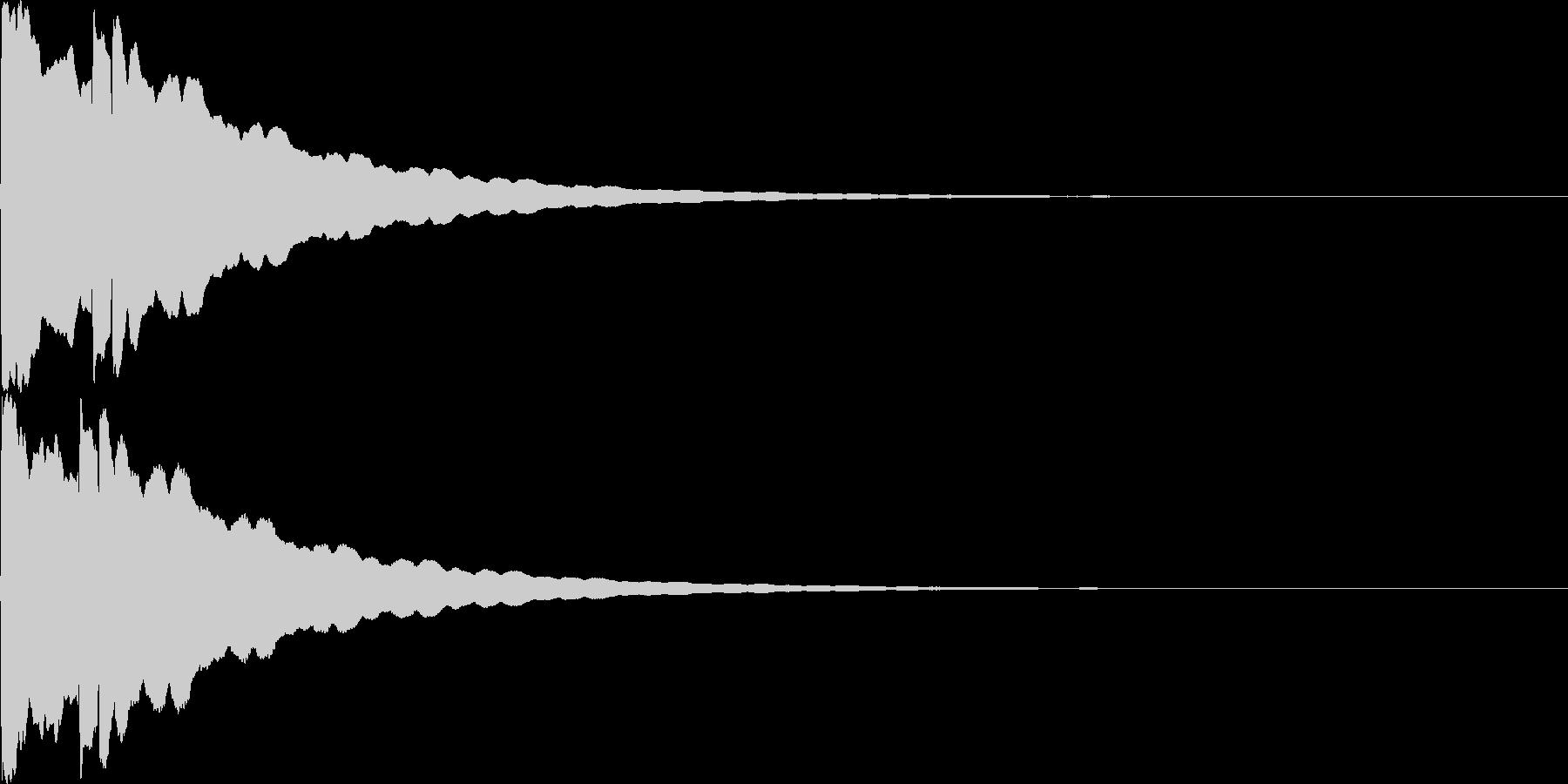 光イメージ音 キュピーン_02_ステレオの未再生の波形