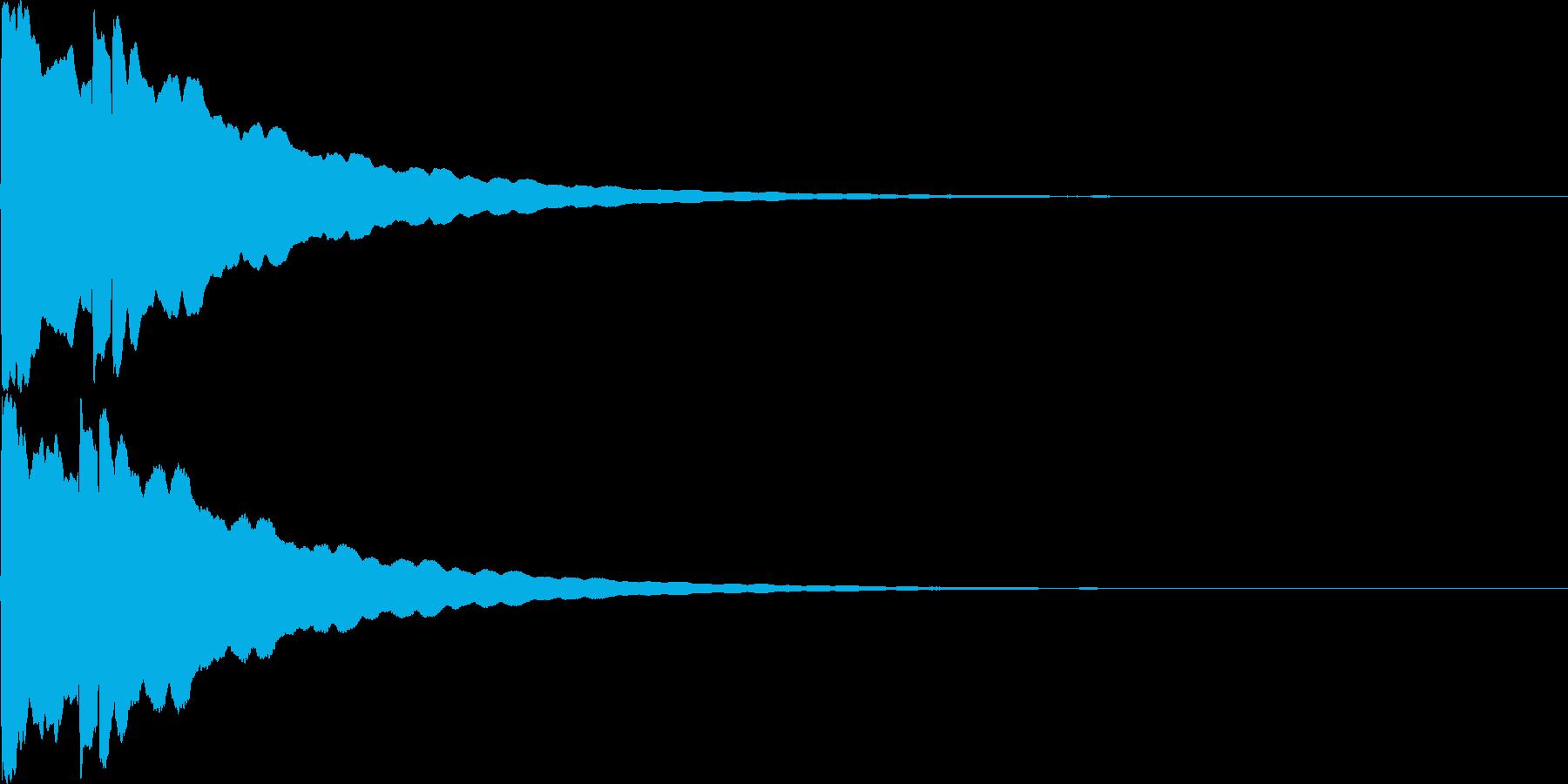 光イメージ音 キュピーン_02_ステレオの再生済みの波形
