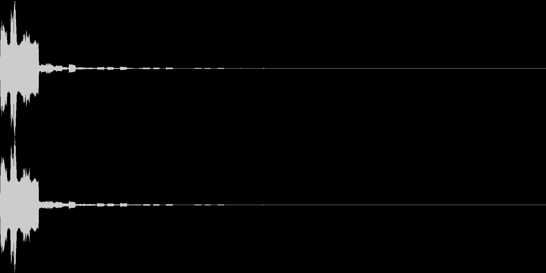 決定 選択 ピピピ アナログ 01の未再生の波形