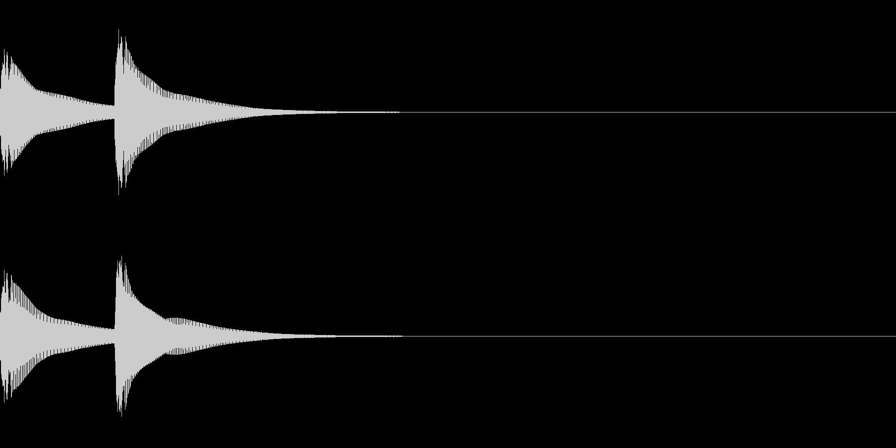 システム音/ピピン/電子音/タイプCの未再生の波形