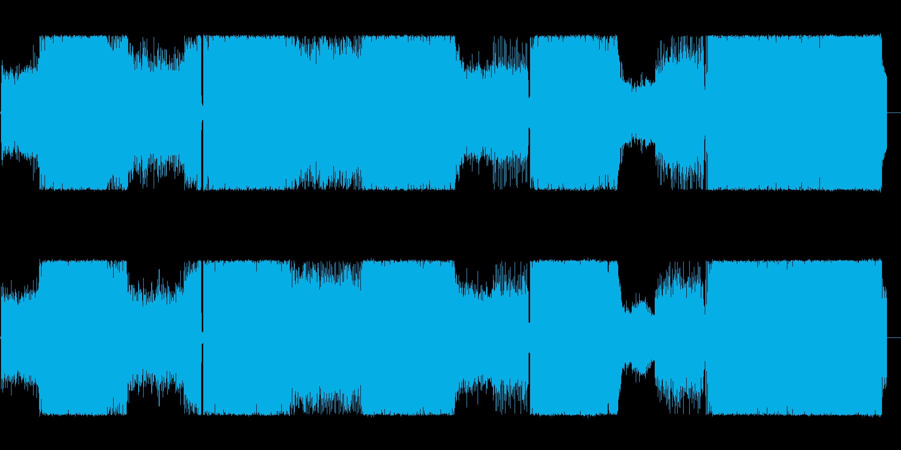 アニメやゲームに合うデジタルロックの再生済みの波形