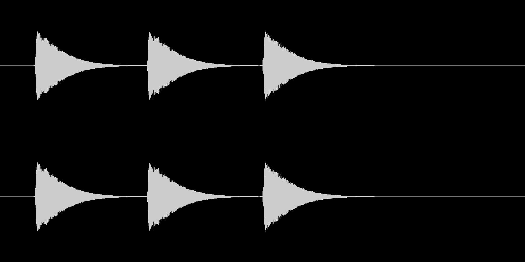 【ショートブリッジ13-2】の未再生の波形