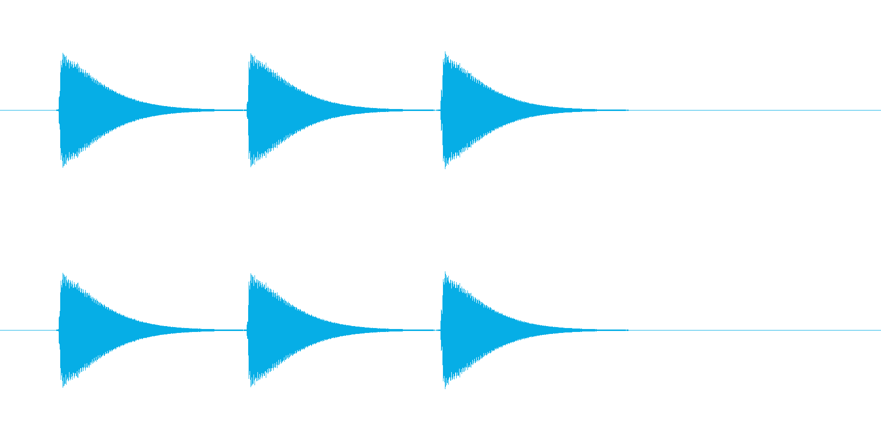【ショートブリッジ13-2】の再生済みの波形