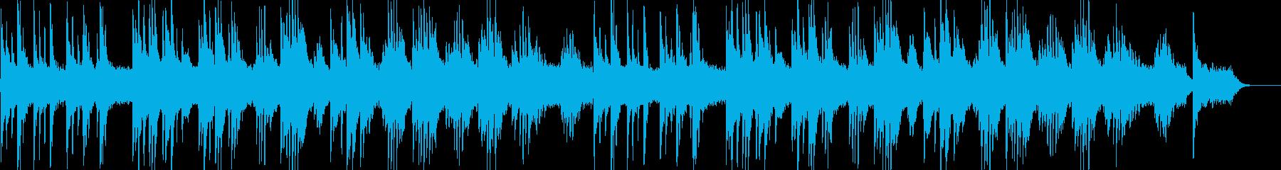 少し寂しいピアノ曲の再生済みの波形