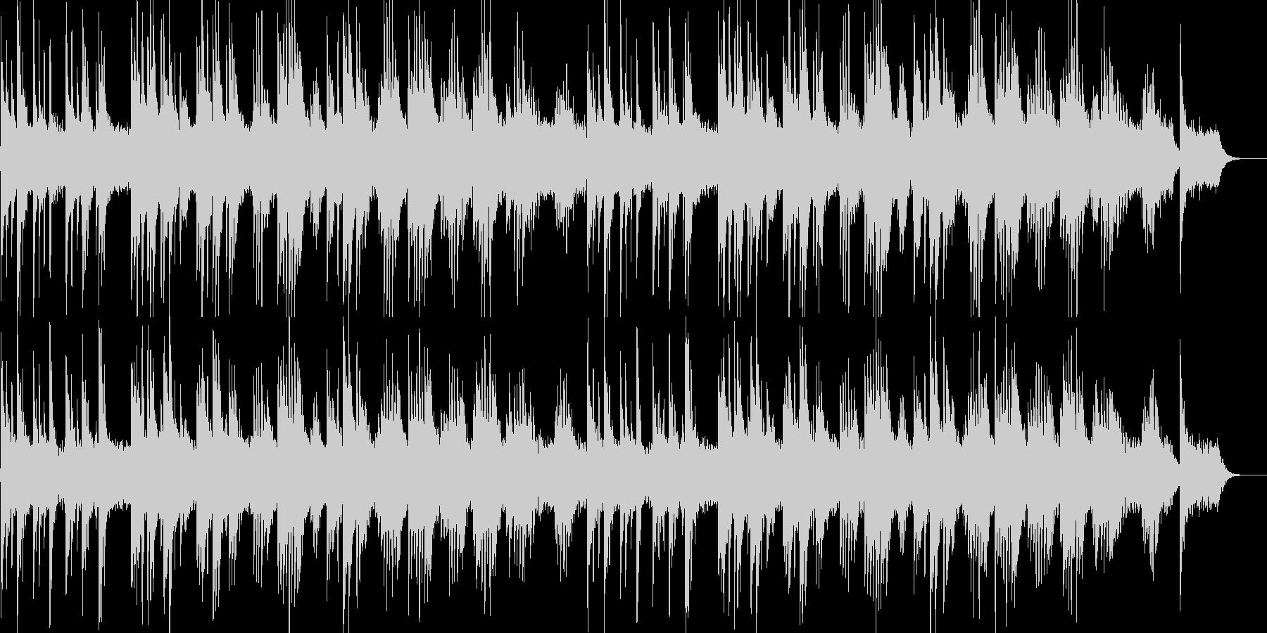 少し寂しいピアノ曲の未再生の波形