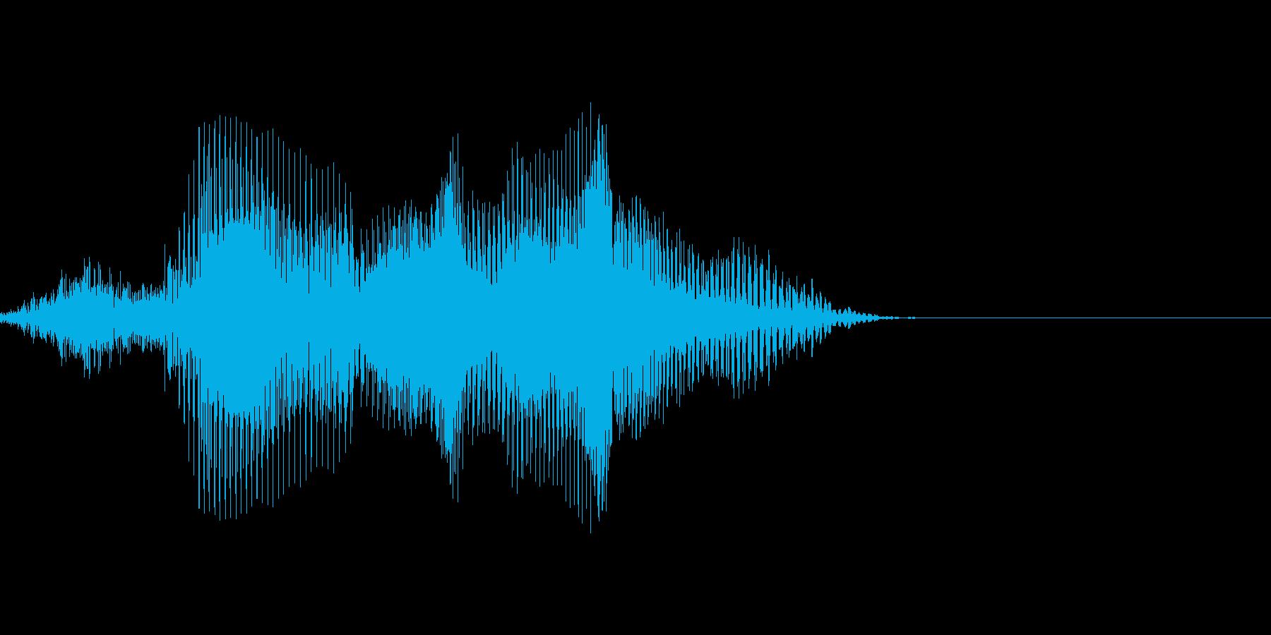 速いの再生済みの波形