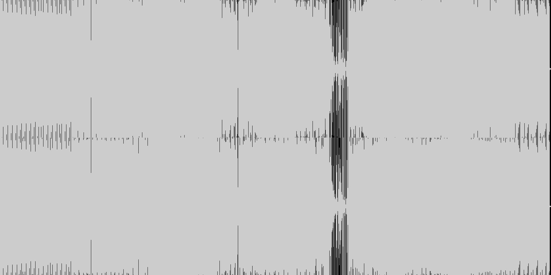 ダークなミニマルテクノの未再生の波形