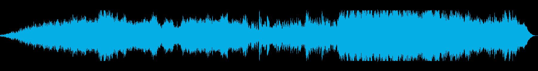 神秘的で美しいシンセ管楽器サウンドの再生済みの波形