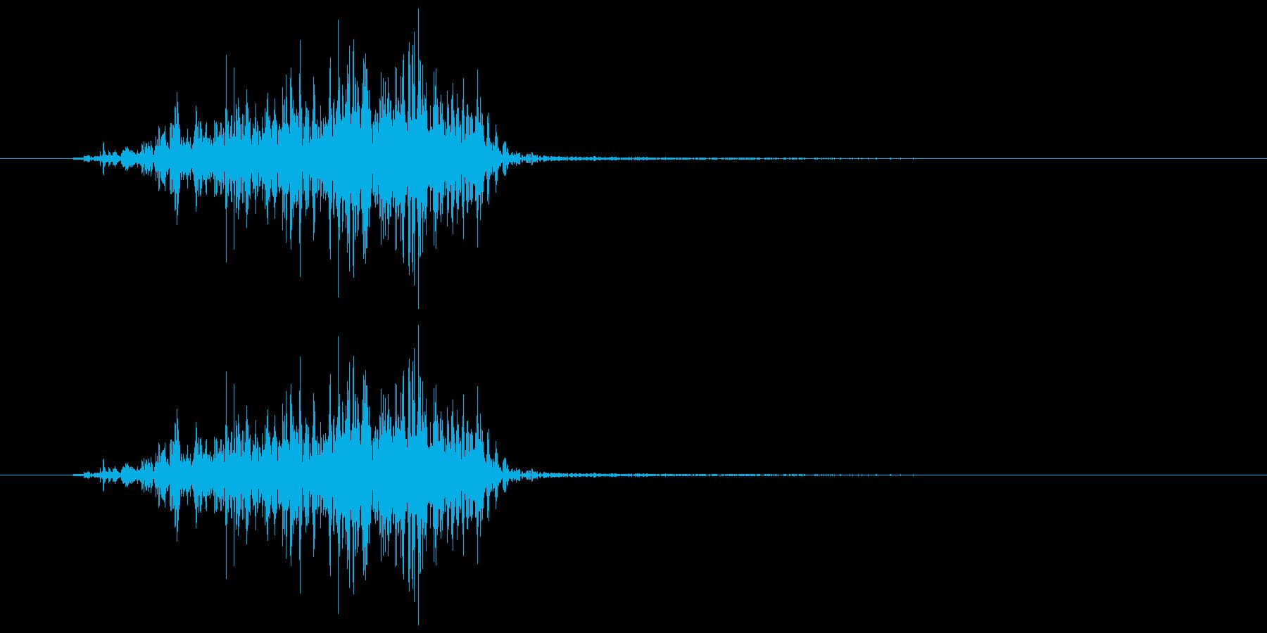 怪獣 鳴き声 短め グアォの再生済みの波形