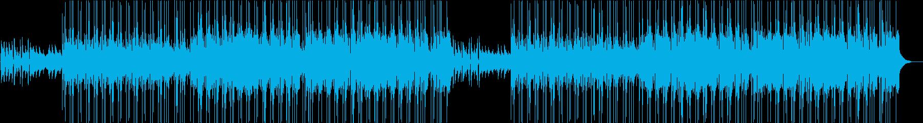 ピアノとギター中心のほのぼのボサノバ風の再生済みの波形