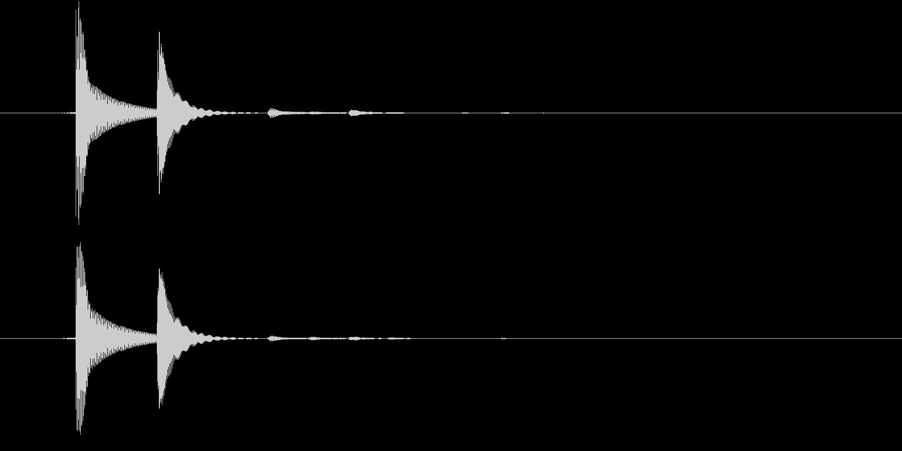 決定/クリック/選択音(ポコッ)の未再生の波形