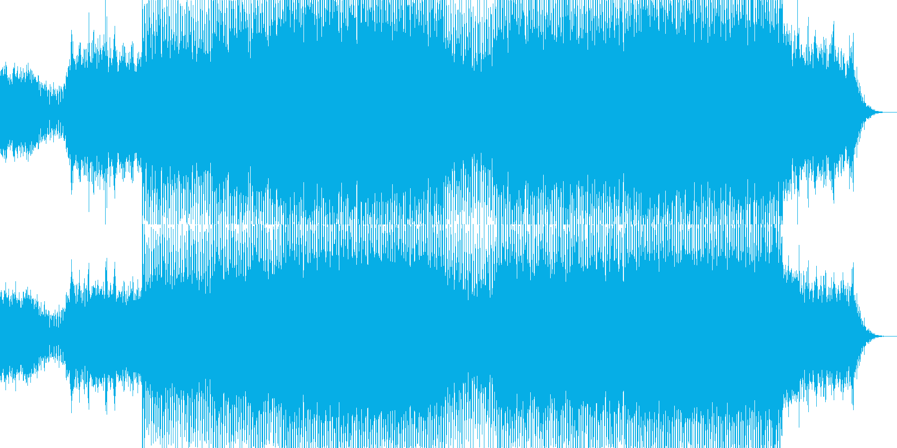 EDMクラブ系ダンスミュージック-11の再生済みの波形