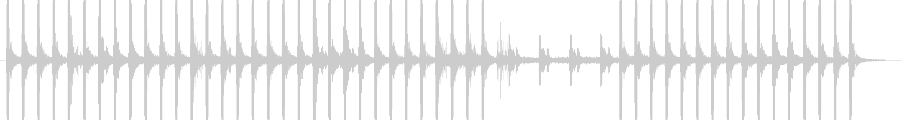 怪しいBGMの未再生の波形