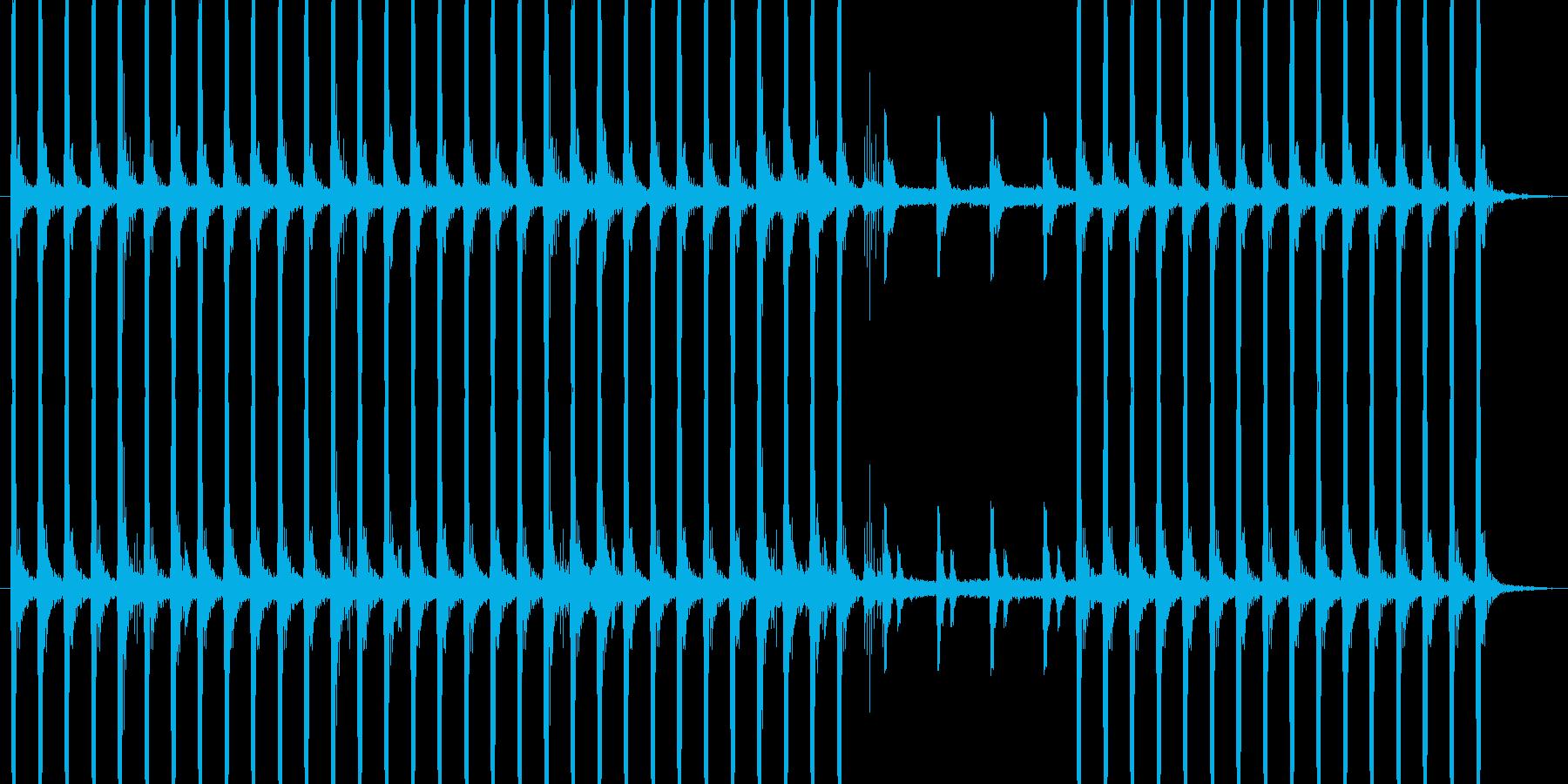 怪しいBGMの再生済みの波形