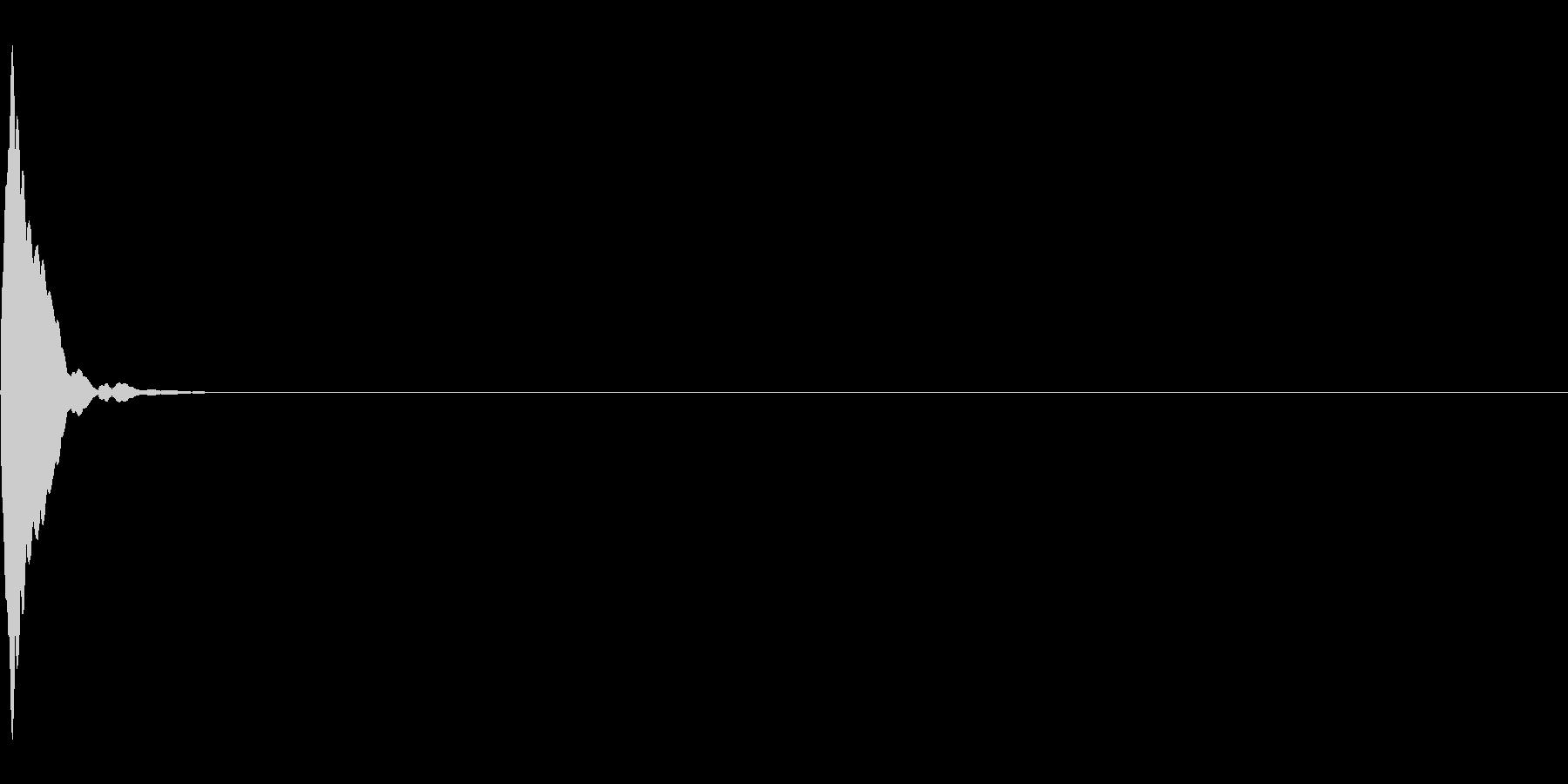 カーソル移動音(上)の未再生の波形