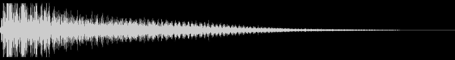 ドスーン,カートゥーン系の転倒音の未再生の波形