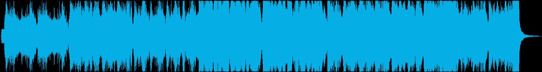 陽気なケルト風/フィドルとバグパイプの再生済みの波形