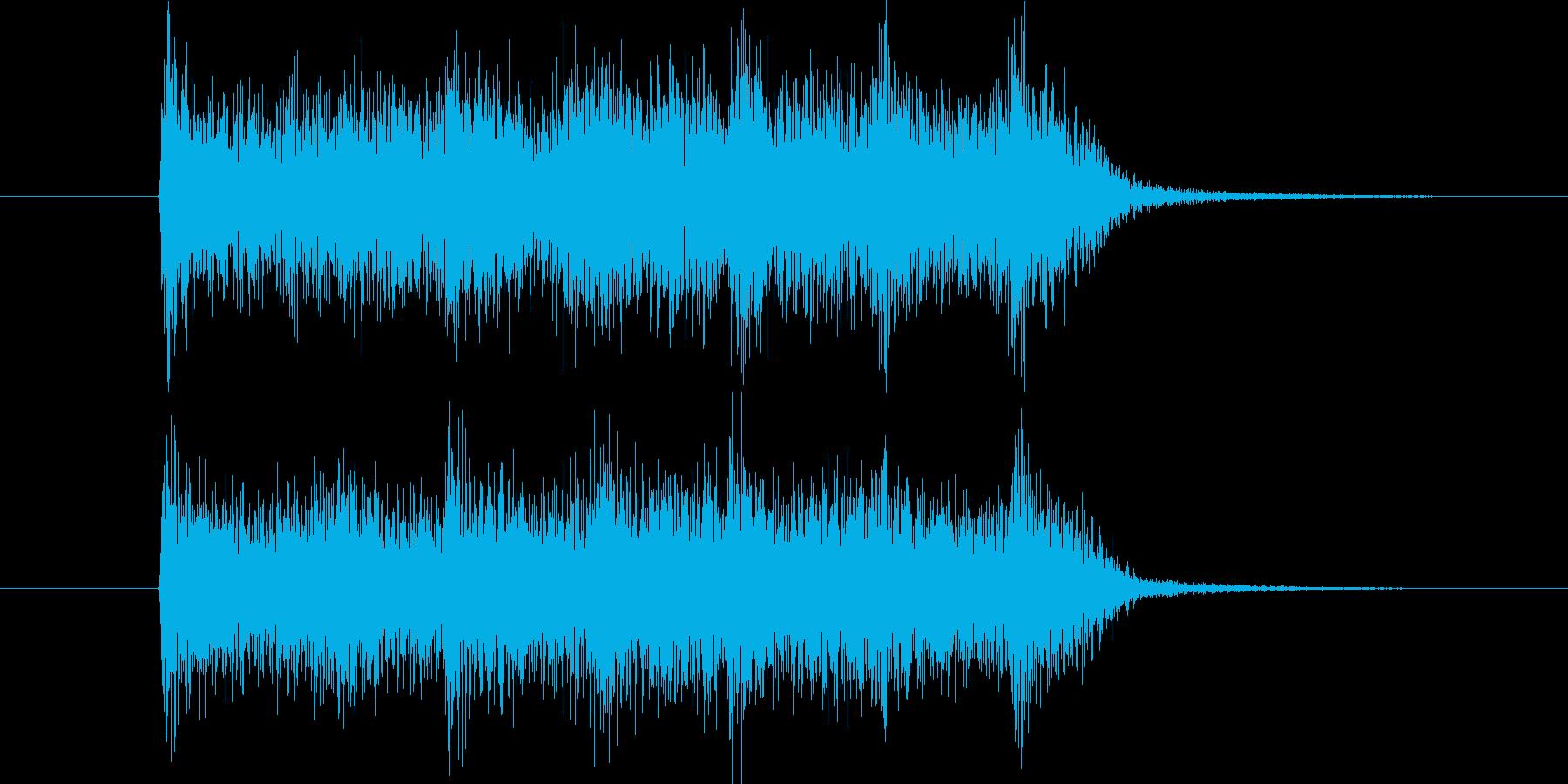 ニュース番組などのエンディングにの再生済みの波形