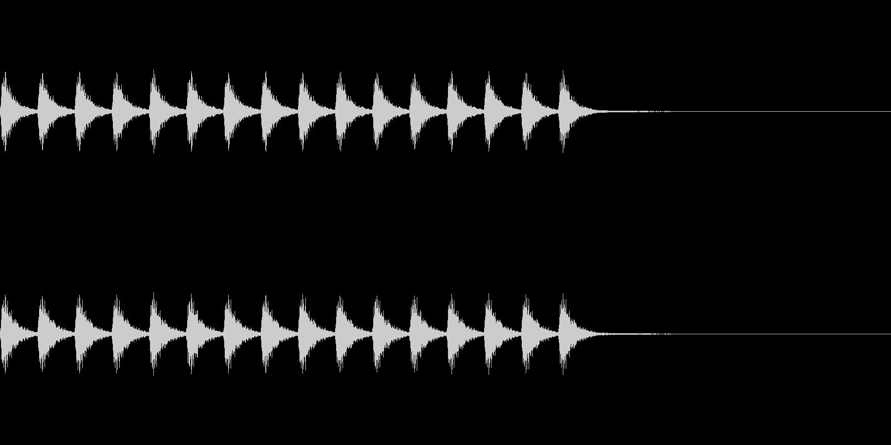 鈴の音の未再生の波形