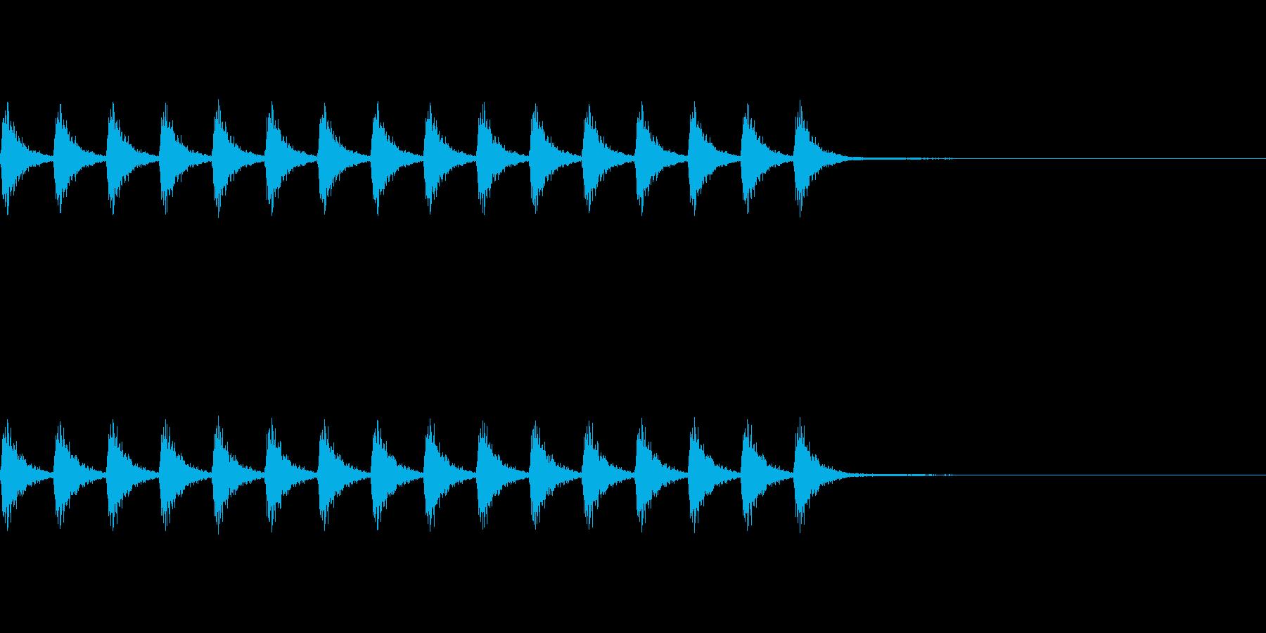 鈴の音の再生済みの波形