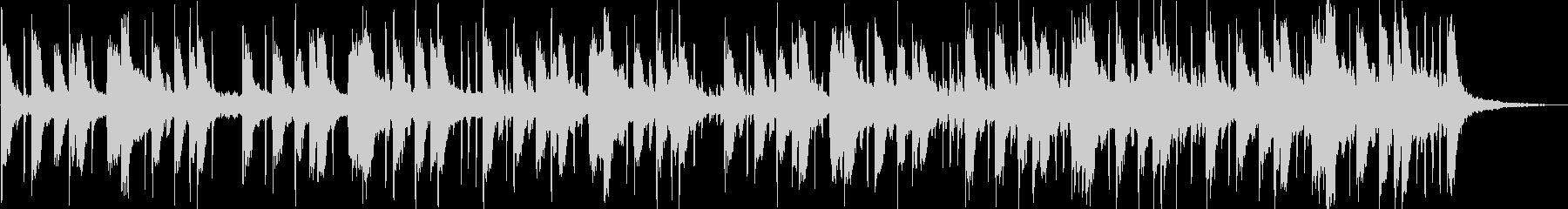 クールなサイバーBGMの未再生の波形