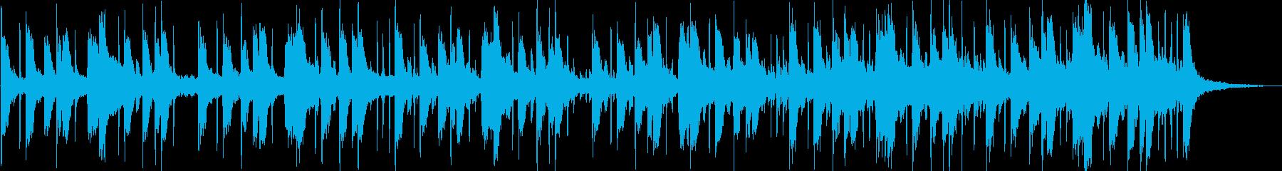 クールなサイバーBGMの再生済みの波形