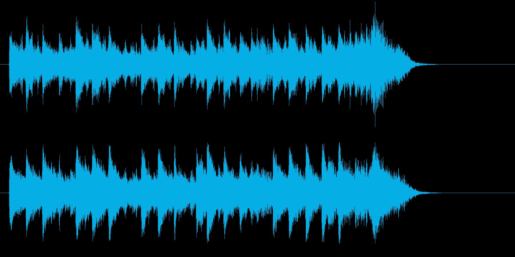 ドキュメント風ポップス(サビ)の再生済みの波形