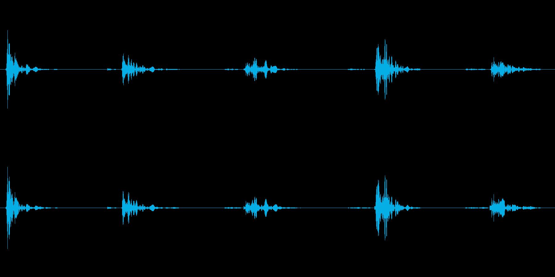 恐怖シリーズ13.家の階段を歩く音の再生済みの波形