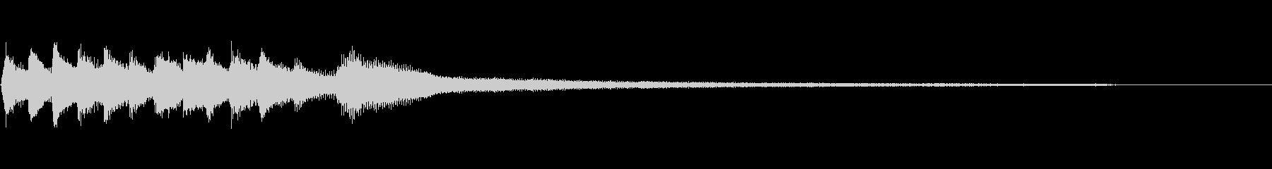 和風のジングル3-ピアノソロの未再生の波形