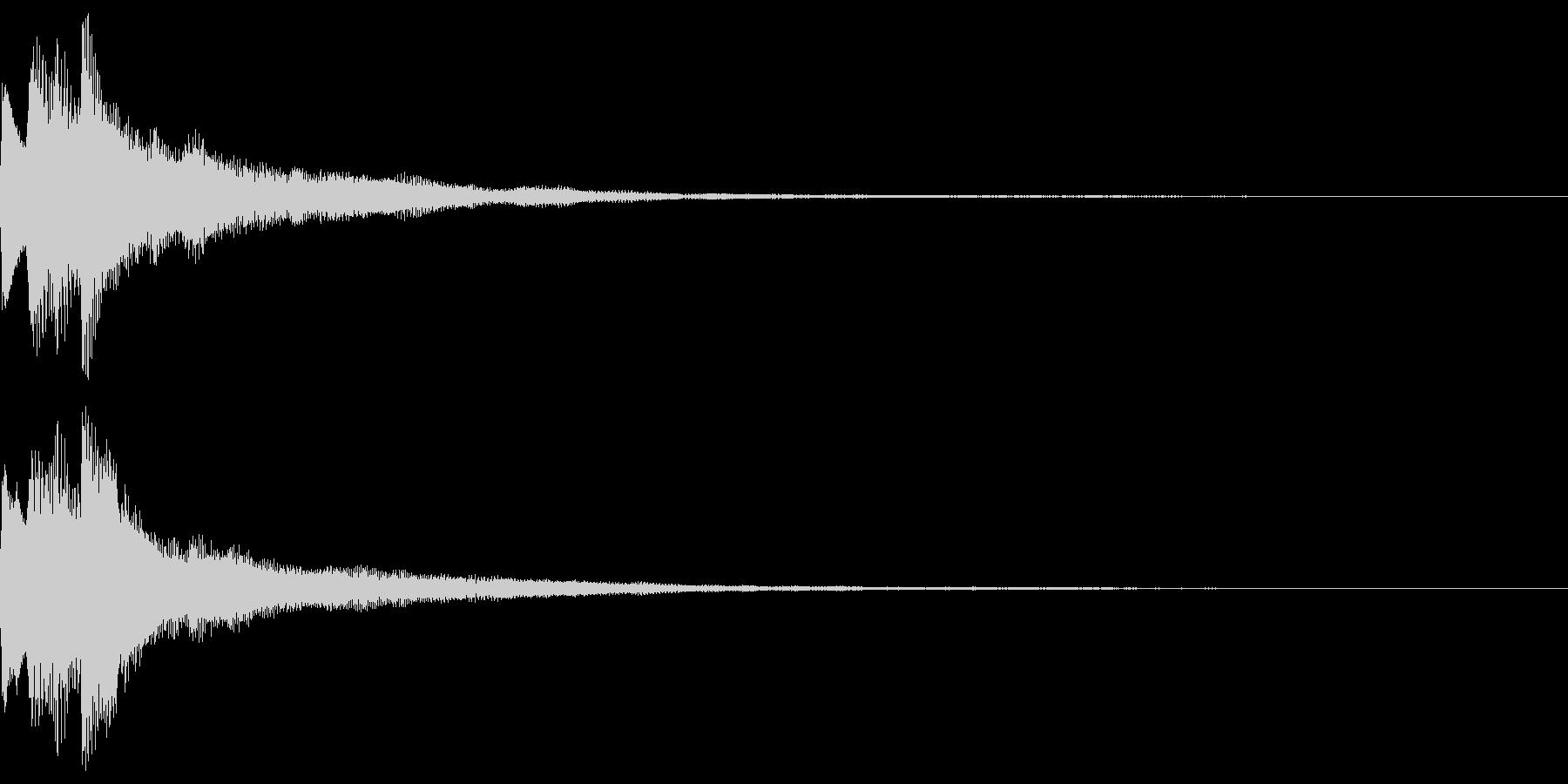 キラキラ キランなアタック音5-2の未再生の波形